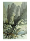 Theatre, Petra, Jordan, at Entrance to City, 1839 Watercolour Giclee Print by David Roberts