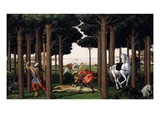 The Story of Nastagio Degli Onesti (Second Episode), 1483 (From Boccaccio's Decameron) Giclee Print by Sandro Botticelli