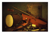 Musical Instruments Giclee Print by Henri Horace Roland De La Porte