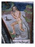 Jonah Stepping from Whale's Mouth, Fresco, 15th - 16th Century Giclee Print