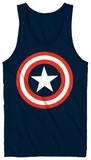 Tank Top: Captain America - 80's Captain - Kalın Askılı Atlet