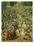 Reception for Ambassadors of Tiphoo-Sahib or Tipu Sultan in the Saint-Cloud Park, 18 August 1788 Giclee Print by Charles-Eloi Asselin