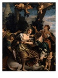 The Rape of Europa, 1857 (Copy of Famous Painting by Paolo Veronese, 1528-88 Italian) Giclee Print by Geronimo Viscardini