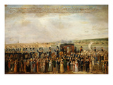 Duchess of Angoulême Passing Through Blois, France, 7 April 1823 Giclee Print by Jean-Jacques Hauer