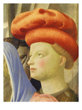 Young Man in Red Hat, from the Deposition of Christ, 1435, from Holy Trinity Altarpiece (Detail) Giclee Print by Fra Angelico