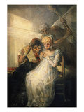 Time, also Called the Old Women Giclee Print by Francisco de Goya