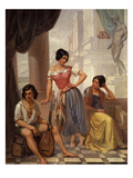 Groupe De Bohémiens Du Pays De Bitche (Group of Gypsies from the Bitche Region of France) Giclee Print by Auguste Migette