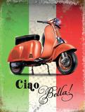 Vespa Italian Flag Plakietka emaliowana