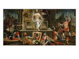 The Resurrection, from Predella, Altarpiece of San Martino Giclee Print by Bernardino Butinone