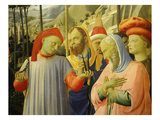 Doctors of the Church, from the Deposition of Christ, 1435, from Holy Trinity Altarpiece (Detail) Giclee Print by Fra Angelico