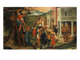 Grape Harvest, Month of October Giclee Print by Cristoforo Rustici