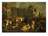 Earthquake in Lisbon, Portugal, 1755 Giclee Print by Jao A. Stroberle