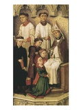 Confirmation Using Chrism or Holy Oil, from Redemption Triptych (Detail) Giclée-Druck von Rogier van der Weyden