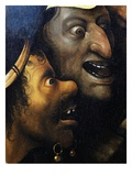 Mocking Faces, from Christ Carrying the Cross, C. 1490 (Detail) Giclee Print by Hieronymus Bosch