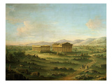 Temples of Paestum, Italy (Ancient Greek Colony) Giclee Print by John Robert Cozens