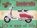 Lambretta - Way of life Plechová cedule