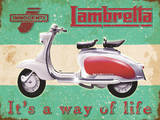 Lambretta - Way of life - Metal Tabela