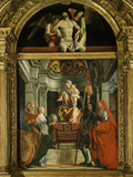 Madonna and Child with Saints (Including Christina of Bolsena, 3rd Century Virgin and Martyr), 1507 Photographic Print by Lorenzo Lotto
