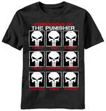 The Punisher - Skull Emotes T-paita