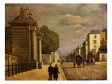 Gate on Rue De L'Orangerie, Versailles, France, 1890 (From Series on Gates of Versailles) Giclee Print by Baudran