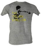 Rocky - The Stallion Black Text Shirts