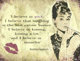 Audrey - Believe in pink Plaque en m&#233;tal