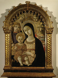 Madonna and Child Between Saints Michael and Madeleine Photographic Print by  Matteo Di Giovanni Di Bartolo
