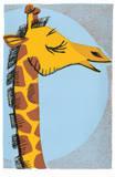 Girafe Sérigraphie par  Print Mafia