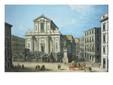 Chiesa San Paolo (Saint Paul's Church), Naples, Italy Giclée-tryk af Antonio Joli