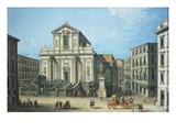Chiesa San Paolo (Saint Paul's Church), Naples, Italy Giclee Print by Antonio Joli