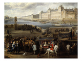 The Louvre from Pont-Neuf, Paris, France, C.1666 Giclee Print by Hendrick Mommers