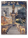 Goddess Artemis of Ephesus, Zodiac Sign of Leo, Fresco, 1520 Giclee Print by Giovanni M Falconetto (Attr to)