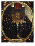 Theology Lecture in University of Salamanca, 1614 Giclee Print by Martin Cervera