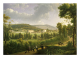 Jouy, France, with Famous Textile Factory Founded by Oberkampf in 1785, Painted 1824 Giclee Print by A Duny
