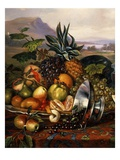 Exotic Fruit, from Still Life with Peacock (Detail) Giclee Print by Luis Portu