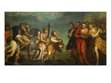 The Triumph of David Giclee Print by Jacopo Palma the Younger