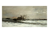 Winter, Called Snow (L'Hiver, Dit La Neige), 1873 Giclee Print by Charles-Francois Daubigny