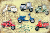 Vespa Collage Tin Sign