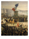 National Guard of Paris Leaving for the Army, September 1792 (Detail) (Mv 2333) Giclee Print by Leon Cogniet