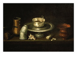 Meal of Hot Dark Chocolate Giclee Print by Juan De Zurbaran