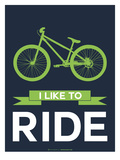 I Like to Ride 4 Prints by  NaxArt