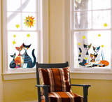 Cats (Window Decal) Wall Decal by Rosina Wachtmeister