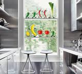 Crazy Vegetables (Window Decal) Okenní nálepky