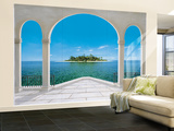 Seychelles Paradise Huge Wall Mural Poster Print Wall Mural