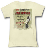 Juniors: Jimi Hendrix - Live In Concert T-Shirt