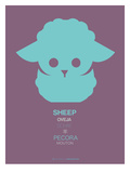 Green Sheep Multilingual Poster Print by  NaxArt