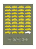 Porsche Yellow Poster Photo by  NaxArt