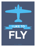 I Like to Fly 4 Print by  NaxArt
