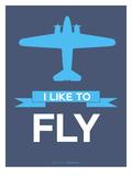I Like to Fly 4 Print by  NaxArt