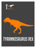 Yellow on Grey Dinosaur Affiches par  NaxArt